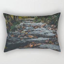 Nature photo - pathway of rocks Rectangular Pillow