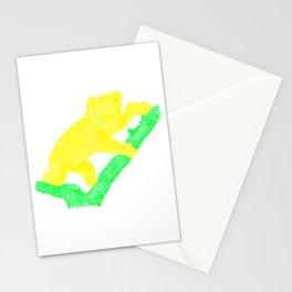 Bright Australian Native Wildlife - Yellow Koala Illustration Stationery Cards