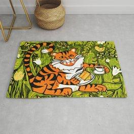 Tiger teatime Rug