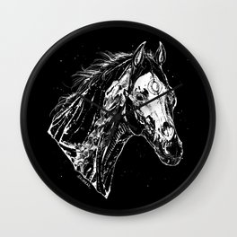 The ghost of horse born  a dog Wall Clock