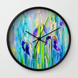 "Abstraction of ""Irises"". Wall Clock"