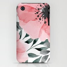 Big Watercolor Flowers iPhone (3g, 3gs) Slim Case