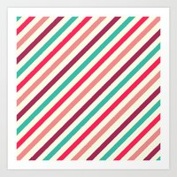 striped Art Prints featuring Striped. by Tayler Willcox
