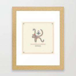 Ahoy! Letter K Framed Art Print