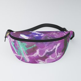 Purple Abstract Mixed-Media: Royal Fanny Pack
