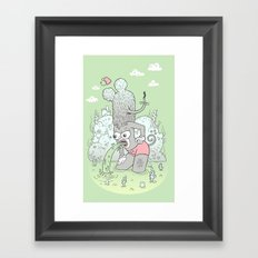 knee deep Framed Art Print