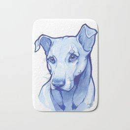Blue Pittie Bath Mat