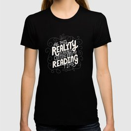 Reality Vs. Reading Grey Swirls T-shirt