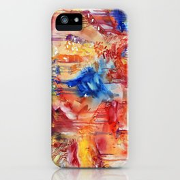 She Made Rainbows by Nadia J Art iPhone Case
