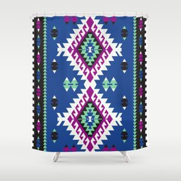 Dark Kilim Shower Curtain