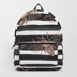 Rose gold bee noir Backpack