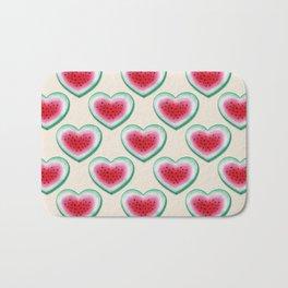 Summer Love - Watermelon Heart Bath Mat