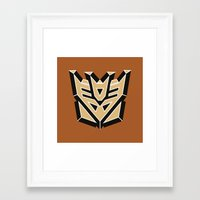transformers Framed Art Prints featuring Transformers by FilmsQuiz