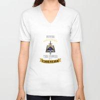 warhammer V-neck T-shirts featuring Librarian, Warhammer 40K by ZsaMo Design