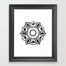 Black and White Pattern Flower Design  Framed Art Print