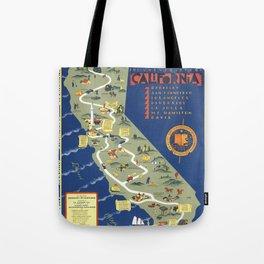 CALIFORNIA University map MAP Berkeley Tote Bag