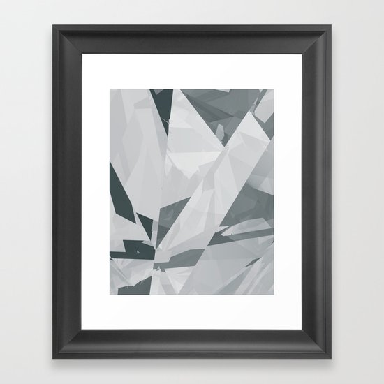 Ice cracks #1 Framed Art Print