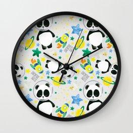 Space and Panda Patt Wall Clock
