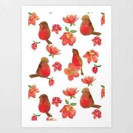 Hello Robin - White Version Art Print