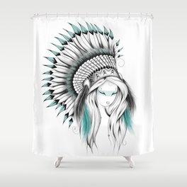 Indian Headdress Shower Curtain