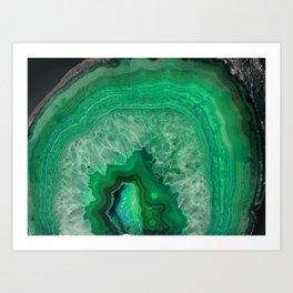 Green Emerald Agate Art Print