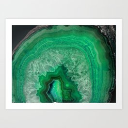 Green Emerald Agate Kunstdrucke