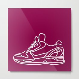 Sneakers Outline #5 Metal Print