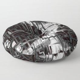 black & white installation Floor Pillow