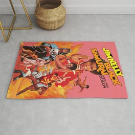 Black Samurai: Agent For Dragon Vintage Movie Poster Artwork for Prints Posters Men Women Kids Rug