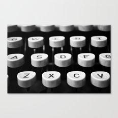 Vintage typewriter 3 Canvas Print