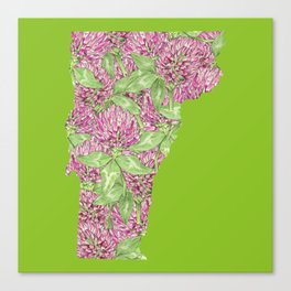 Vermont in Flowers Canvas Print