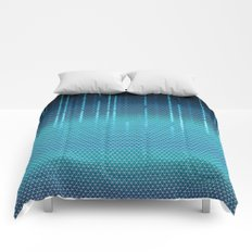 Blue Cyber Space Comforters