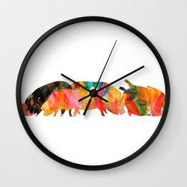 Happy Pigs Wall Clock