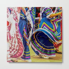 Mexican Independence Day Celebrated with Folklorico Dancers Metal Print