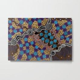 Authentic Aboriginal Art – Metal Print