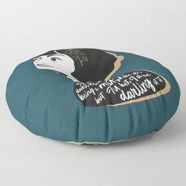 Millionaire Quote - Dorothy Parker - Teal Floor Pillow