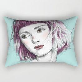 Pink Ombre Hair Rectangular Pillow