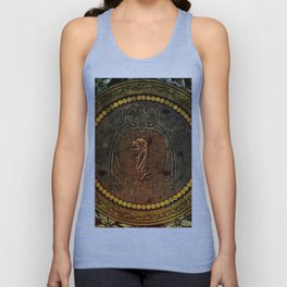 Awesome tiger, tribal design Unisex Tank Top
