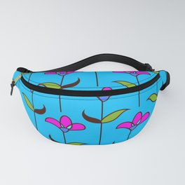 Genevieve - Blue and Pink Fanny Pack