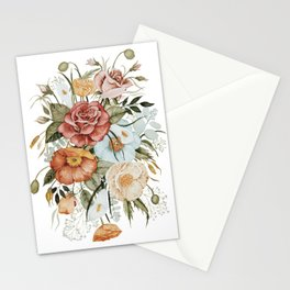 Roses and Poppies Stationery Cards