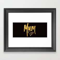 Mum Handwritten Type Framed Art Print