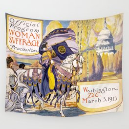 Vintage poster - Woman Suffrage Procession Wall Tapestry