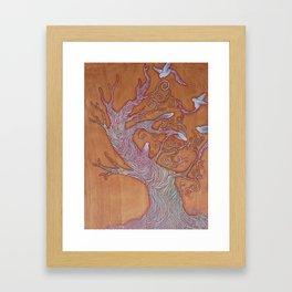 """""""Bird Tree"""" Framed Art Print"""