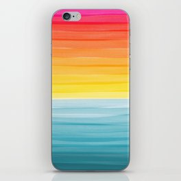 Sunset on the Ocean Minimalist Painting iPhone Skin