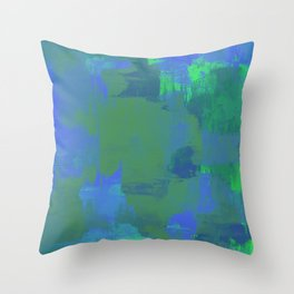 A Different View Of Earth - Abstract, textured, globe painting Throw Pillow