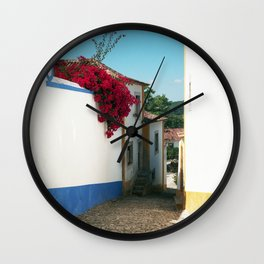 Portugal, Obidos (RR 180) Analog 6x6 odak Ektar 100 Wall Clock