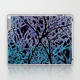 Tangled Tree Branches in Blue and Teal Laptop & iPad Skin