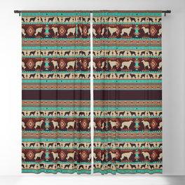 Boho dogs   Borzoi / Russian wolfhound sunset Blackout Curtain