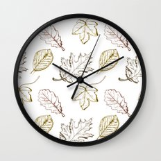 Leaves (browns) Wall Clock