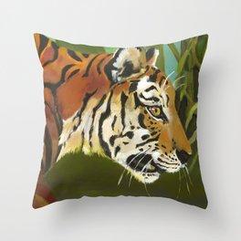 Tiger (detail) Throw Pillow